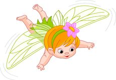 Baby fairy in flight Stock Images