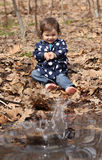 Baby during fall Royalty Free Stock Image