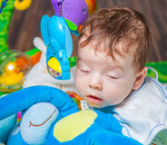 Baby falling asleep Royalty Free Stock Images