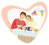 Baby family heart Stock Image