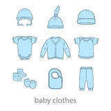 Baby fashion clothing, fashion, vector, shirt, illustration, design, wear, Royalty Free Stock Images