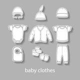 Baby fashion clothing, fashion, vector, shirt, illustration, design, wear, Stock Image