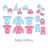 Baby fashion clothing, fashion, vector, shirt, illustration, design, wear, Stock Images