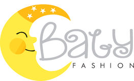 Baby fashion logo moon Stock Photo