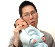 Baby and father. Photo of baby and his father Royalty Free Stock Images