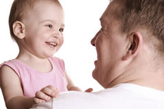 Baby with father. Smile baby with father Stock Images