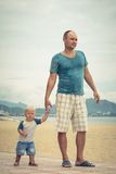 Baby and father Stock Photography