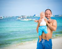 Baby and father Royalty Free Stock Photography