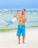 Baby and father Royalty Free Stock Photo