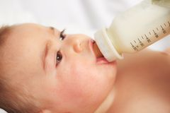 Baby feeding Royalty Free Stock Photos