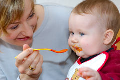 Baby feeding Royalty Free Stock Photo