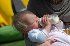 Baby feeding royalty free stock photo