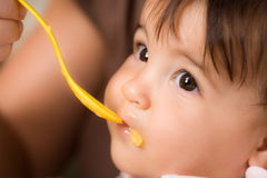Baby feeding Stock Images