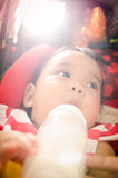 Baby feeding Royalty Free Stock Images