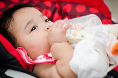 Baby feeding Stock Photography