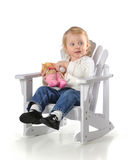 Baby Feeding Baby Royalty Free Stock Photo