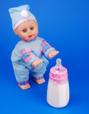 Baby feeding bottle Royalty Free Stock Photography