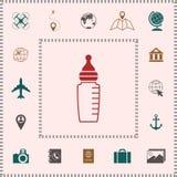Baby feeding bottle icon. Element for your design vector illustration