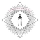 Baby feeding bottle icon. Element for your design . Signs and symbols - graphic elements for your design stock illustration