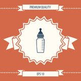 Baby feeding bottle icon. Element for your design . Signs and symbols - graphic elements for your design royalty free illustration