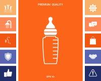 Baby feeding bottle icon. Element for your design royalty free illustration