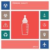 Baby feeding bottle icon . Elements for your design. Baby feeding bottle icon. Element for your design . Signs and symbols - graphic elements for your design stock illustration