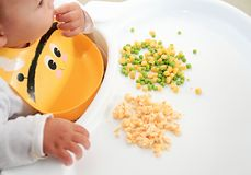 Baby feeding. A close-up image of a baby feeding Royalty Free Stock Images