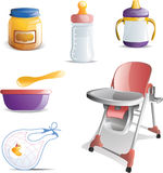 Baby Feeding Icon Set Stock Photography