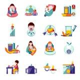 Baby Feeding Icons Stock Photo