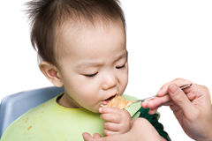 Baby feeding time Royalty Free Stock Image