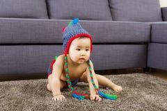 Baby feel curiosity Stock Photography