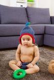 Baby feel curiosity Royalty Free Stock Photo