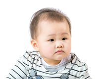 Baby feel curiosity Royalty Free Stock Images