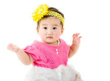 Baby feel excited Royalty Free Stock Photos