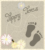 Baby Feet. Illustration in muted colors Stock Image