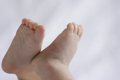 Baby Feet. Close up of a pair of baby feet Stock Images