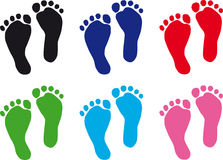 Baby feet royalty free illustration