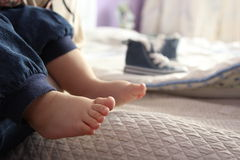 Baby feet Stock Photo