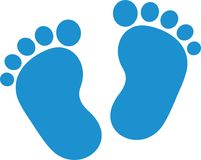 Baby feet boy. Vector icon royalty free illustration