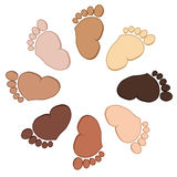 Baby feet collection Stock Photo