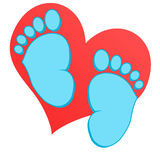Baby feet collection Royalty Free Stock Photos