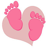 Baby feet collection Stock Photos