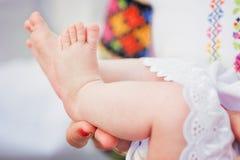 baby feet nowonarodzeni Fotografia Stock