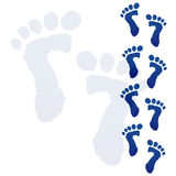 Baby feet print Royalty Free Stock Photos