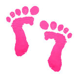 Baby feet print Royalty Free Stock Photography