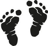 Baby feet realistic stock illustration