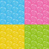 Baby feet seamless pattern Royalty Free Stock Photo