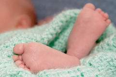 Baby Feet Up Close Royalty Free Stock Image