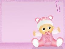 Baby female. Funny illustration of baby female Stock Image