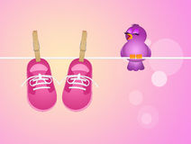 Baby female shoes Royalty Free Stock Images